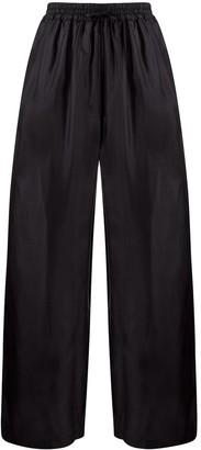 Roberto Collina Wide-Leg Silk Trousers