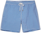 Hartford Mid-Length Striped Cotton-Blend Swim Shorts