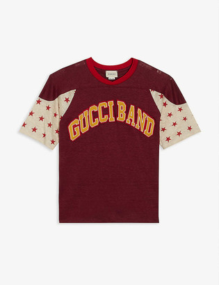 Gucci Band stars linen T-shirt 6-12 years