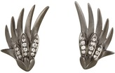 Elizabeth and James Meadowlark Wing Earrings with White Sapphire (Black Rhodium) - Jewelry