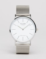 Reclaimed Vintage Inspired Classic Mesh Strap Watch In Silver