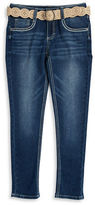 Imperial Star Girls 7-16 Belted Skinny Jeans