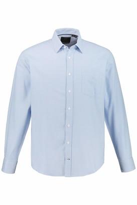 JP 1880 Men's Big & Tall Shirt Light Blue X-Large 723278 72-XL