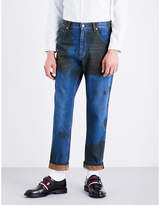 Gucci Dirt-detail tapered regular-fit mid-rise jeans