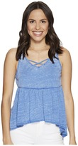 BB Dakota Catherine Burnout Babydoll Tank Top