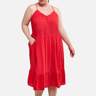 La Redoute Collections Plus Short Dress with Shoestring Straps