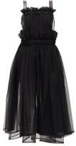Noir Kei Ninomiya Faux-leather Trim Tulle Dress - Womens - Black