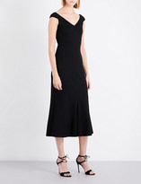 Rosetta Getty V-neck cap-sleeve fit-and-flare jersey dress