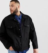 Levi's Big & Tall denim trucker jacket in black rinse