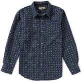 First Wave Big Boys 8-20 Geo Printed Long-Sleeve Woven Shirt