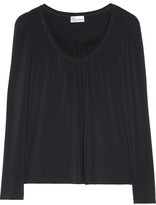 RED Valentino Silk-lace trimmed stretch-jersey top