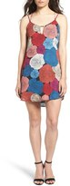 Socialite Women's Bar Detail Print Camisole Shift Dress
