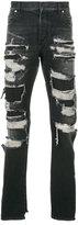 Balmain distressed jeans - men - Cotton/Python Skin/Polyester - 30