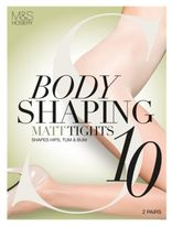 Marks and Spencer 2 Pair Pack 10 Denier Secret SlimmingTM Matt Body Shaper Tights