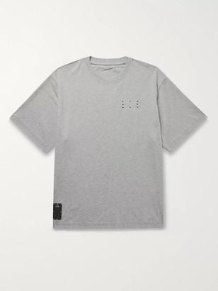 McQ Appliqued Printed Melange Cotton-Jersey T-Shirt