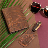 Undercover Tropical Leather Passport Holder And Matching Tag