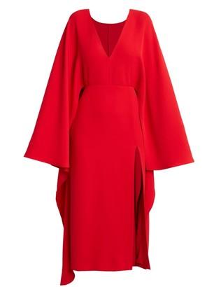 Valentino Silk Cape Dress