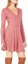 BCBGMAXAZRIA Kinley Mesh A-Line Dress
