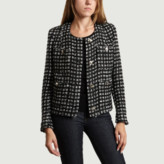 IRO Paris Paris - Black White Wool Tetys Jacket - 36 | wool | black white - Black white