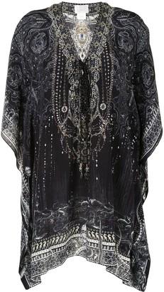 Camilla Paisley-Print Silk Mini Dress