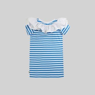 Marc Jacobs Ruffle Rosette Stripe Dress