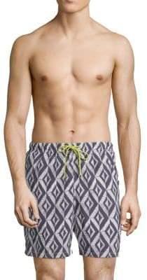 Tommy Bahama Naples Almas Geometric Swim Shorts