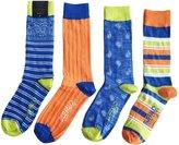 Buffalo David Bitton Men's Paisley Stripes Crew Socks