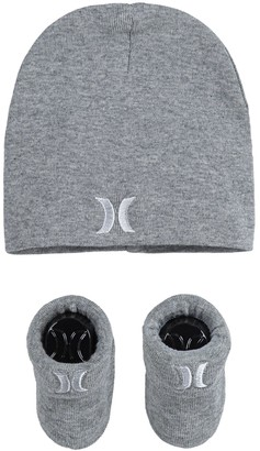 Hurley Baby Boy Icon Slouchy Beanie & Booties Set