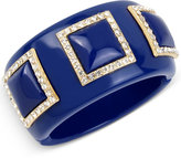 INC International Concepts IRIS X Pavé Acrylic Bangle Bracelet, Only at Macy's