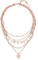 Luv Aj The Moonstone Multi Charm Necklace