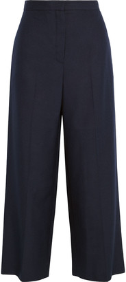 The Row Resme Cropped Silk-canvas Wide-leg Pants