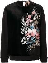 No.21 embroidered floral sweater