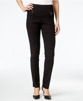 Style&Co. Style & Co. Plaid Printed Skinny Pants, Only at Macy's