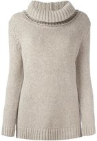 Agnona cashmere roll neck jumper