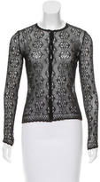 Christian Dior Lace Scallop-Trimmed Cardigan