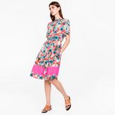 Paul Smith Women's Red 'Ocean Floral' Print Shirt-Dress