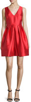 Erin Fetherston Sleeveless V-Neck Party Dress, Vermillion
