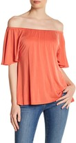 In Cashmere Off-the-Shoulder Ruffle Blouse