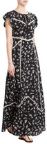 The Kooples Printed Silk Maxi Dress