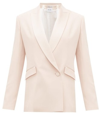 Pallas Paris Eden Double-breasted Crepe Suit Jacket - Light Pink
