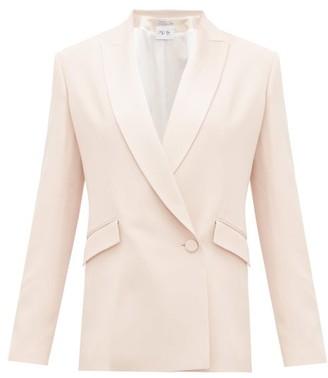 Pallas X Claire Thomson Jonville X Claire Thomson-jonville - Eden Double-breasted Crepe Suit Jacket - Womens - Light Pink