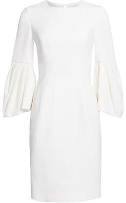 Carolina Herrera Bell Sleeve Sheath Dress