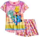 Girls 4-12 Hatchimals Split Back Top & Shorts Pajama Set