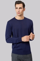 Moss Bros Navy Crew Neck Jumper