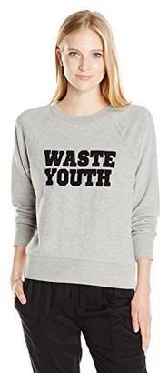 Obey Women's Waste Youth French Terry Fleece Top