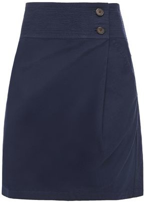 Vanessa Bruno Itasca Cotton, Linen And Tencel-blend Twill Mini Skirt