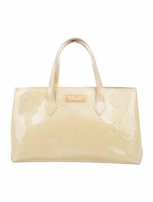 Louis Vuitton Monogram Vernis Wilshire PM Bag Lime