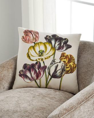 John Derian Variegated Tulips Buttermilk Pillow