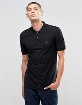 Farah Polo Shirt In Regular Fit In Black