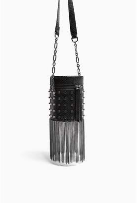 Topshop Perrie Barrel Bag - Black